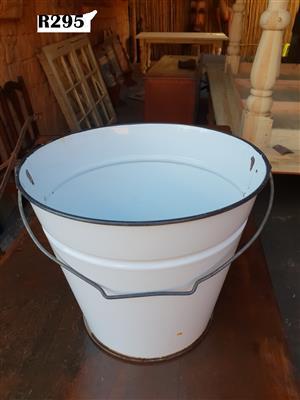 Antique Enamel Bucket