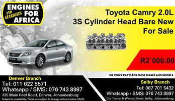 Toyota Camry 2.0L 3S Cylinder Head Bare New For Sale.