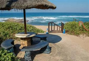 The Aloes Self Catering Chalets right on the beach at Umzumbe, 8km south of Hibberdene