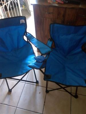 Blue camping chairs for sale