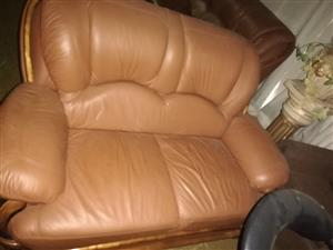 Tan Leather couches
