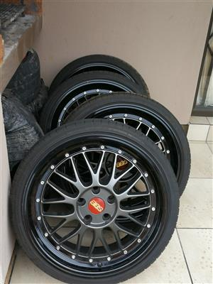 19INCH BBS MAGS WITH TYRES  225/35/19
