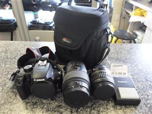 Canon EOS 1000D + 2 Lenses