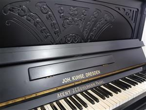 Upright Piano Joh Kuhse Dresden 1920s (Serial 10491) R 32500