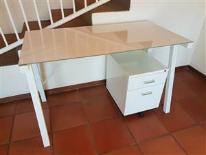 White Table and Drawer