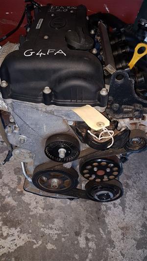 Hyundai i20 1.4 G4FA engine for sale.