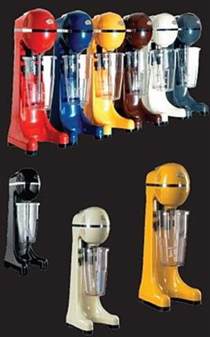 Single Milkshake Machine 400W RED, CREAM, BLACK & YELLOW