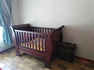Wooden baby cot