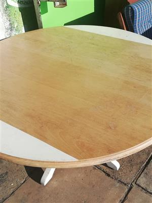 Beechwood round table for sale.