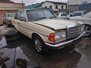 STRIPPING: 1982 Mercedes-Benz W123 230E.