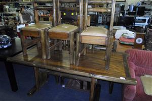 Wooden Dining Room Table + 6 Chairs