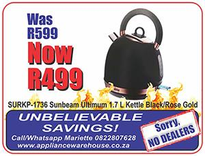 Come and see our wide range of kettles on special!