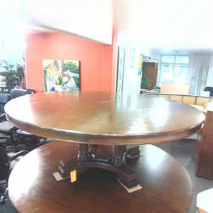 Veneer round boardroom table