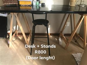 Desk and stands for sale