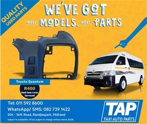 Toyota Quantum Dash Gear Lever Surround - Taxi Auto Parts quality used spares - TAP