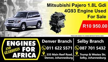 Mitsubishi Pajero 1.8L Gdi 4G93 Engine Used For Sale for sale  Johannesburg - South Rand