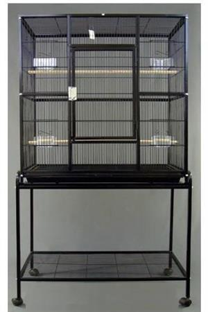 CC022 Large Bird Cage with stand 80x46x160cm