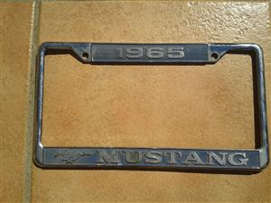 Ford Mustang licence plate bracket