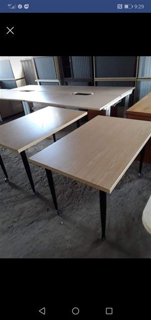 Tables with caster legs