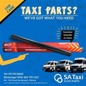 Buy your Polyethelene Windowfilm 50 x 300cm from SA Taxi Auto Parts today