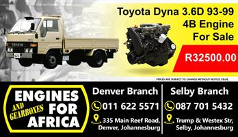 Used Toyota Dyna 3.6L 93-99 4B Engine for Sale