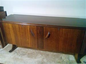 Wooden Table and Cupboard