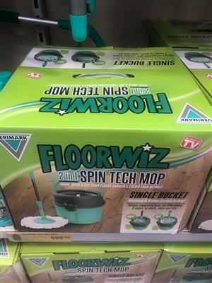 Floorwiz spin tech mop.