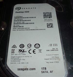 I am looking for  Seagate 1TB hard disk with PCB 100774000