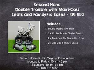 Second Hand Double Trouble with Maxi-Cosi  Seats and FamilyFix Bases