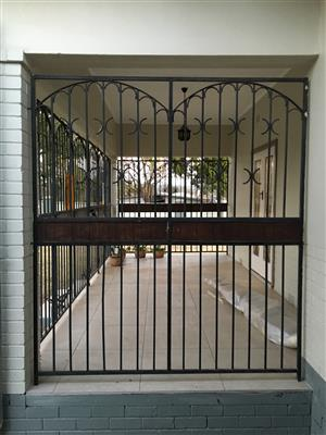 Square tube burglar bars  for verandah or stoep