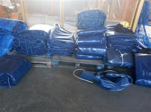 9m x 9m heavy duty truck tarpaulins and cargo nets for super-link and tri_axle
