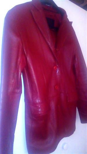 Burgundy Geniune Leather Jacket for Sale
