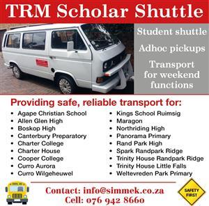 TRM Shuttle Services in Weltervreden Park, Randpark Ridge, Wilgeheuwel, Sundowner and Boskruin