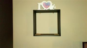 Wooden love photo frame for sale