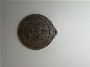 1961 South African Republic medallion for sale.