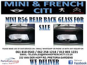 MINI  R56 REAR BACK GLASS FOR SALE