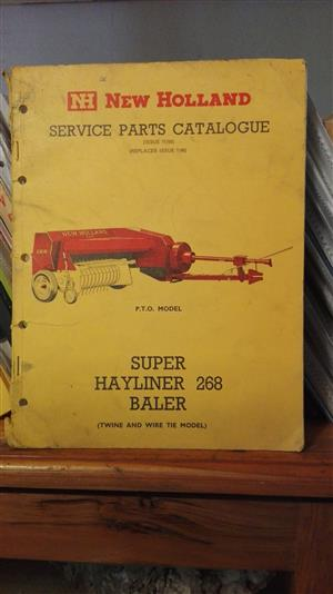 Super Hayliner 268 baler: parts catalog
