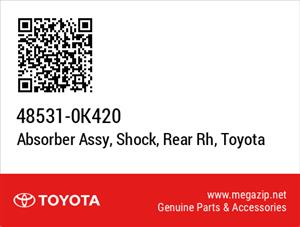 Toyota Fortuner Rear Shock Absorbers