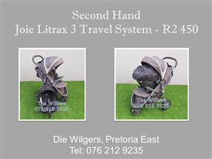Second Hand Joie Litrax 3 Travel System