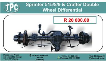 Sprinter 515/8/9 & Crafter Double Wheel Differential for sale