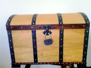 Large Wooden Pirate trunk