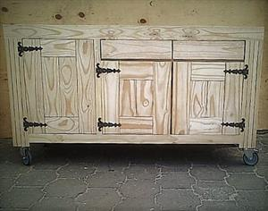 Kitchen Island Farmhouse De Lux series 1550 Raw
