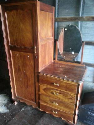 2 in 1 Antique Dresser drawer and closet