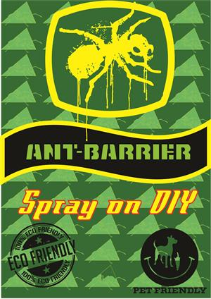 Pet friendly Ant Barrier spraying on DIY