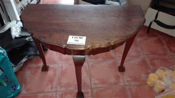 Wooden halfmoon table for sale