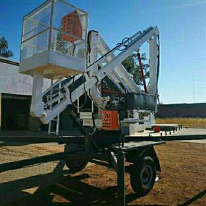 trailer mounted cherry picker for sale