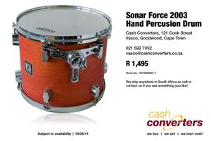 Sonar Force 2003 Hand Percusion Drum