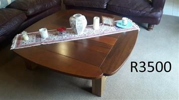 Large solid kiaat antique coffee table for sale