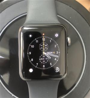 Apple Watch 38mm GPS Space Grey Aluminium Case with Black Sport Band - Series 3