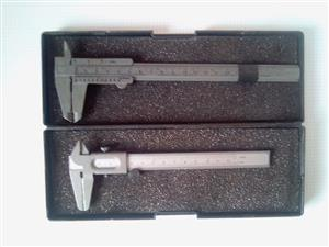 Caliper Vernier Set . Consist of One metal Vernier as new and Another Vernier in Fair Condition. Both in a box. I am in Orange Grove.